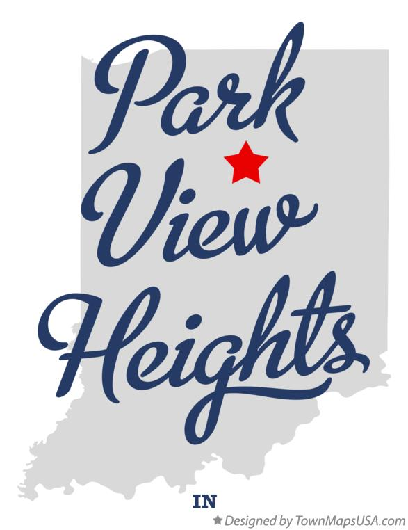 Map of Park View Heights Indiana IN
