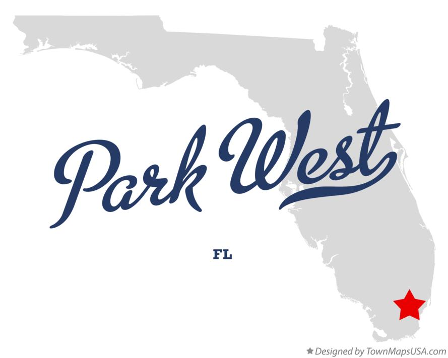 Map of Park West Florida FL