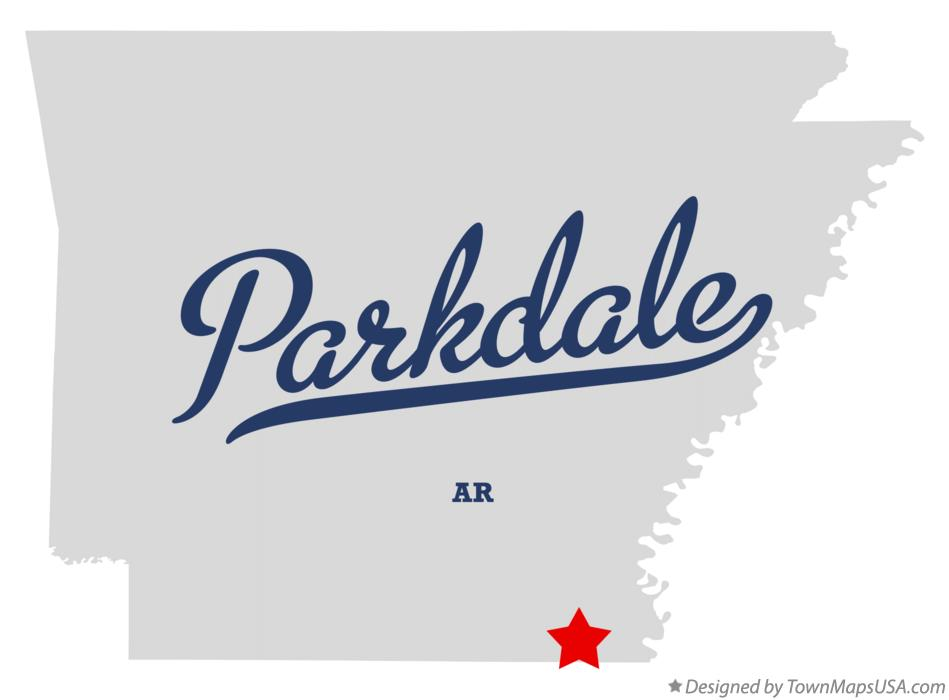 Map of Parkdale Arkansas AR