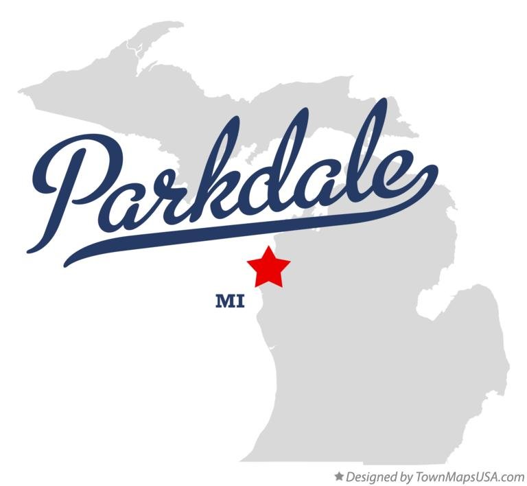 Map of Parkdale Michigan MI