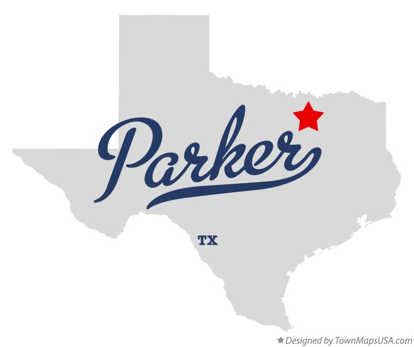 Map of Parker Texas TX