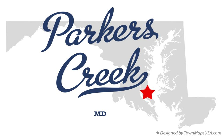 Map of Parkers Creek Maryland MD