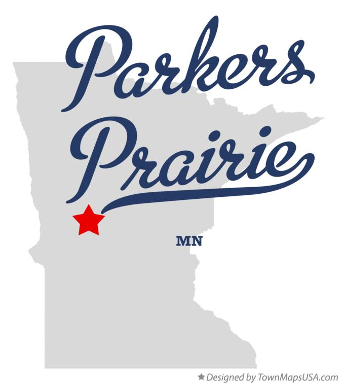 Map of Parkers Prairie Minnesota MN