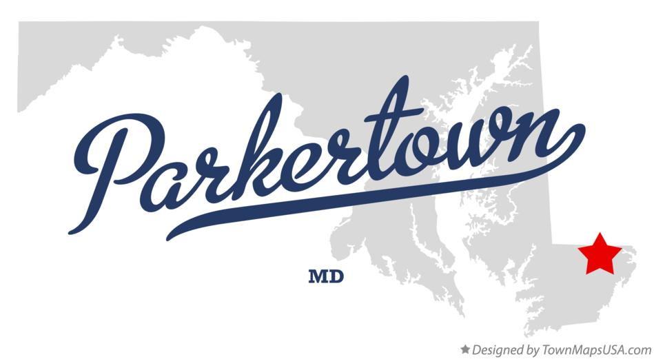 Map of Parkertown Maryland MD