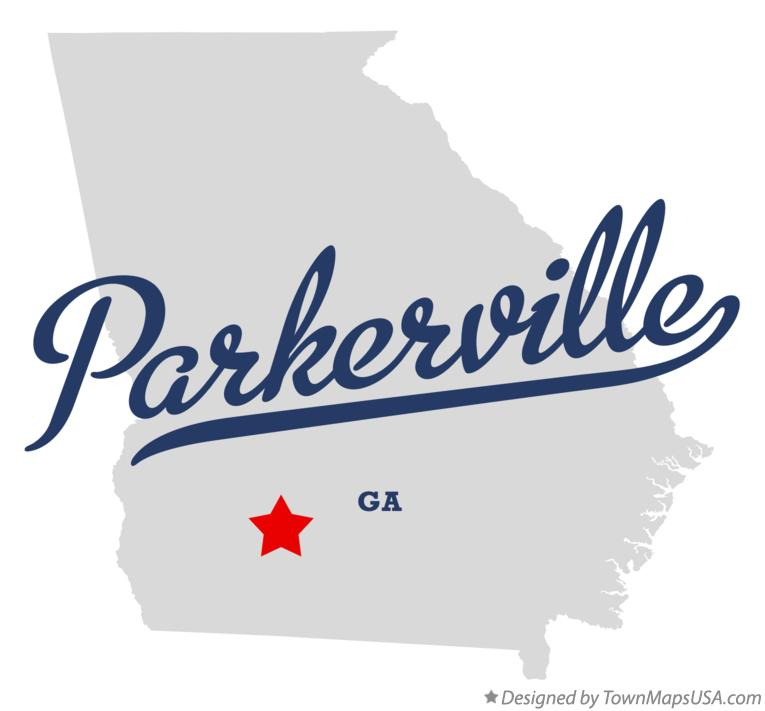 Map of Parkerville Georgia GA