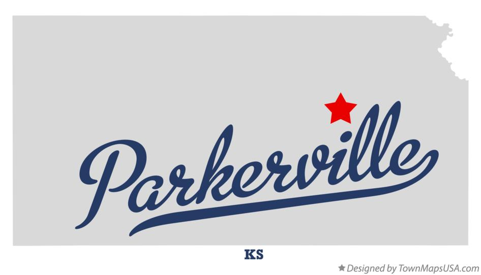 Map of Parkerville Kansas KS
