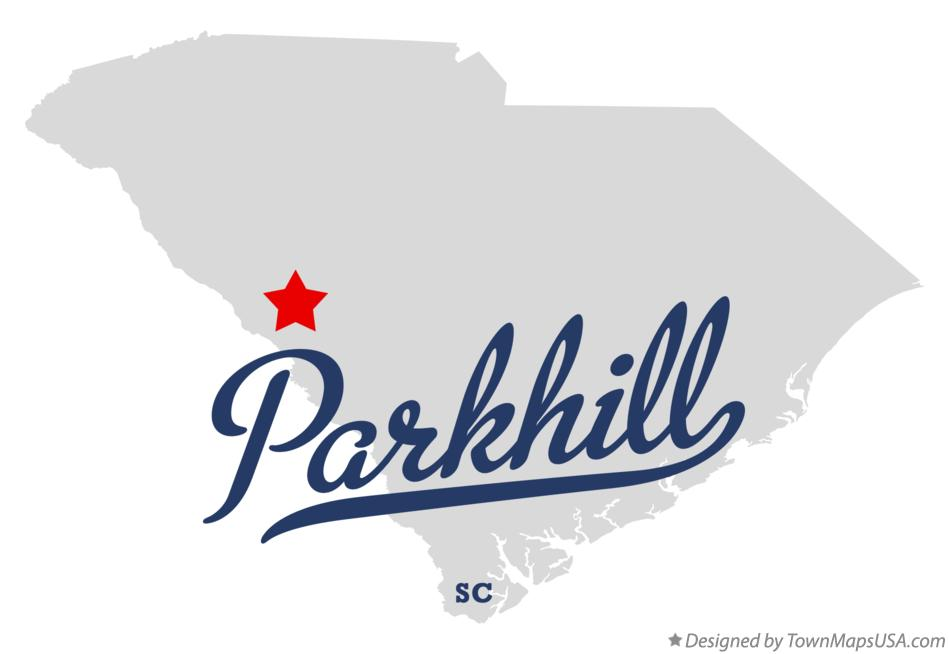 Map of Parkhill South Carolina SC