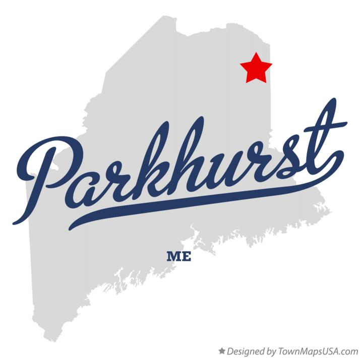 Map of Parkhurst Maine ME