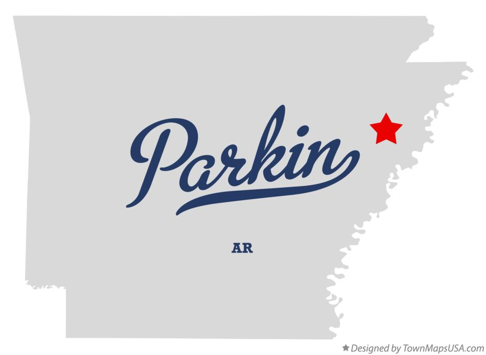 Map of Parkin Arkansas AR