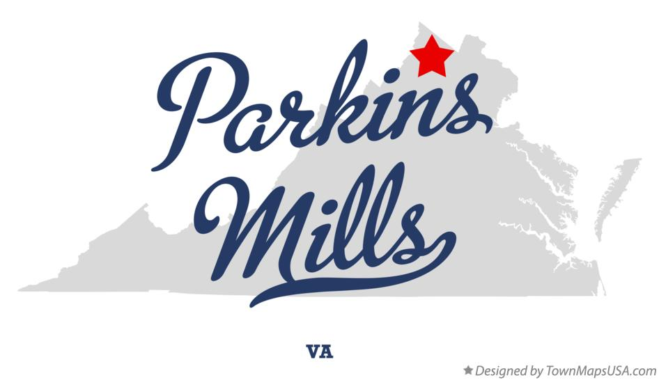 Map of Parkins Mills Virginia VA