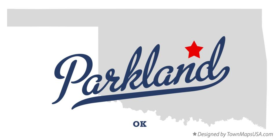 Map of Parkland Oklahoma OK