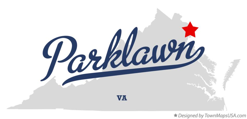 Map of Parklawn Virginia VA