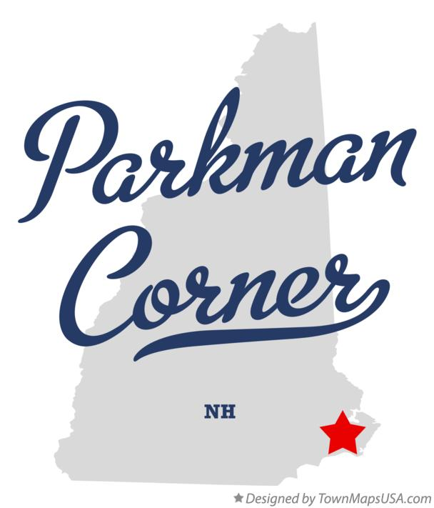 Map of Parkman Corner New Hampshire NH