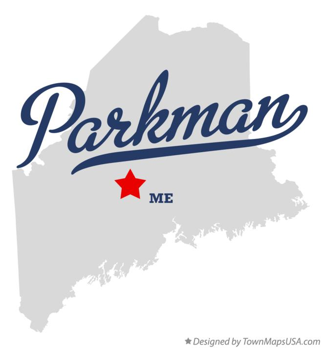 Map of Parkman Maine ME