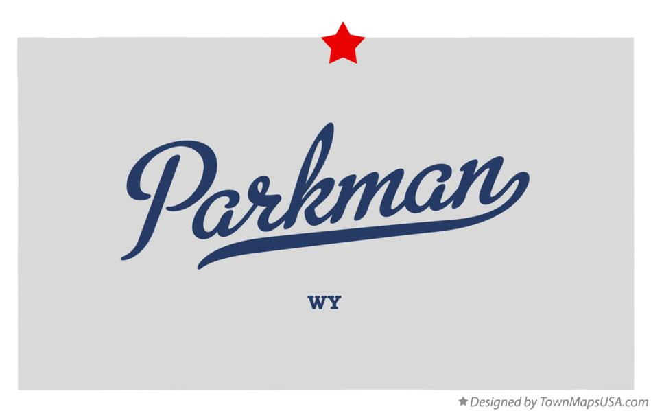Map of Parkman Wyoming WY