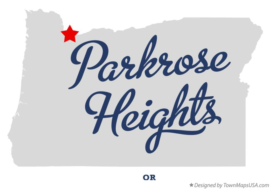 Map of Parkrose Heights Oregon OR