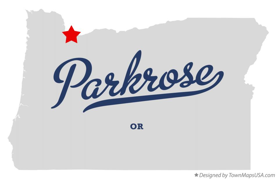 Map of Parkrose Oregon OR