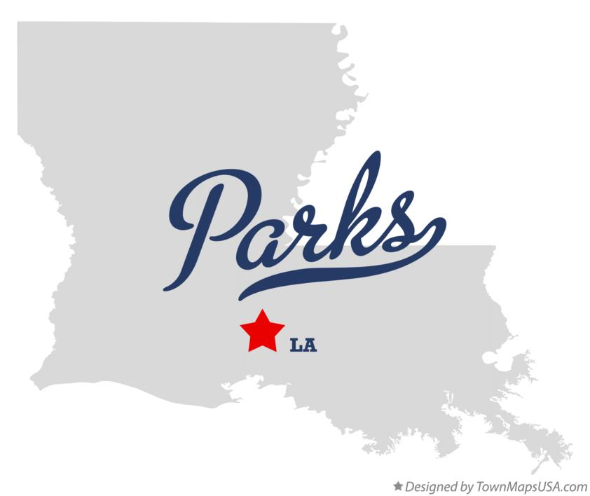 Map of Parks Louisiana LA