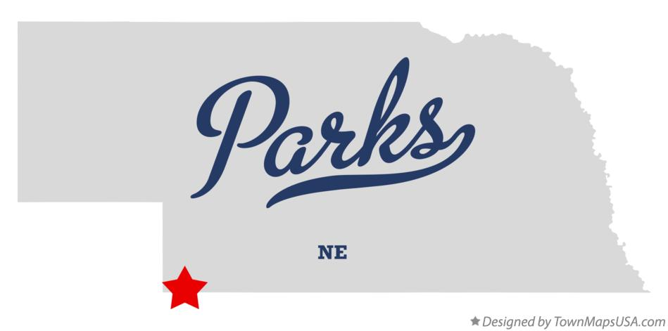 Map of Parks Nebraska NE