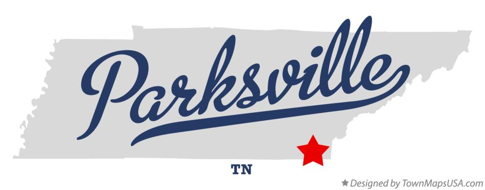 Map of Parksville Tennessee TN