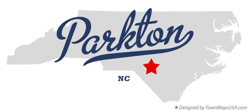 Map of Parkton North Carolina NC