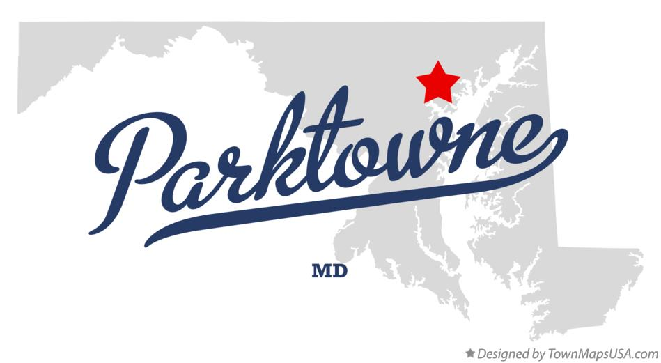 Map of Parktowne Maryland MD