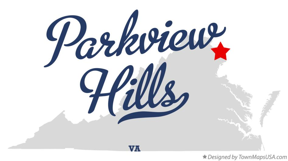 Map of Parkview Hills Virginia VA