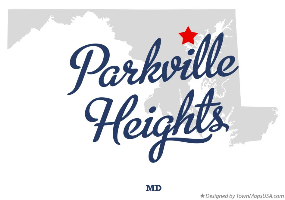 Map of Parkville Heights Maryland MD