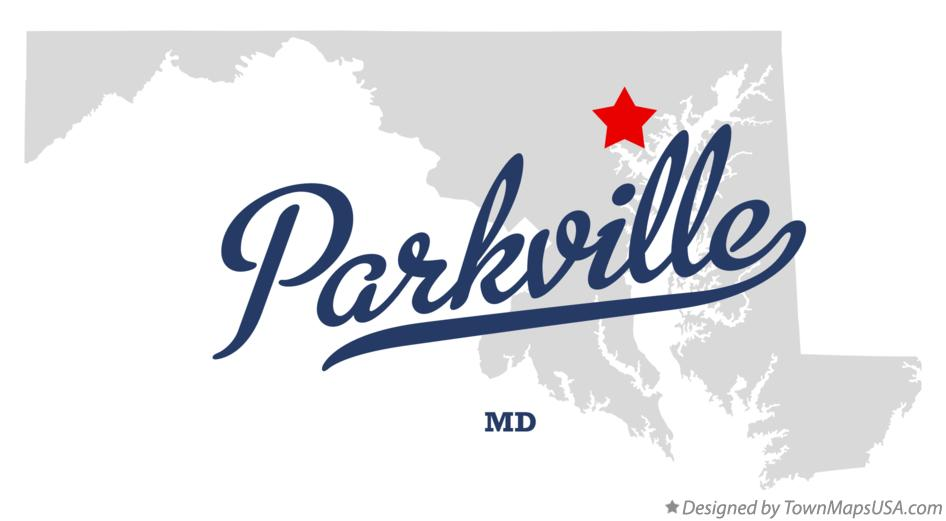 Map of Parkville Maryland MD