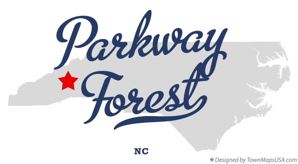 Map of Parkway Forest North Carolina NC