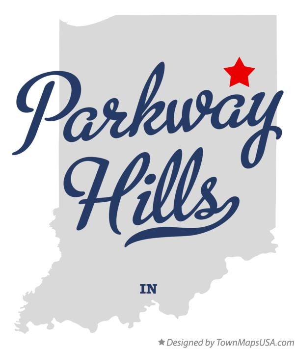 Map of Parkway Hills Indiana IN
