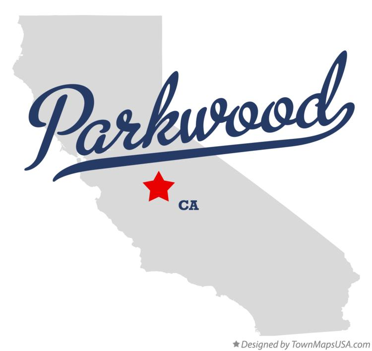 Map of Parkwood California CA