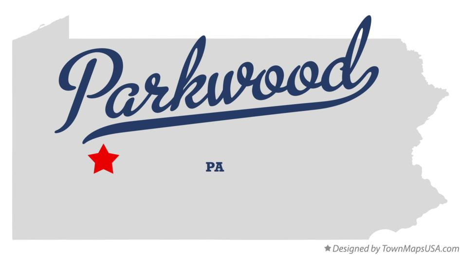 Map of Parkwood Pennsylvania PA