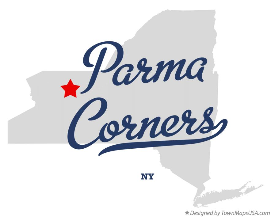 Map of Parma Corners New York NY