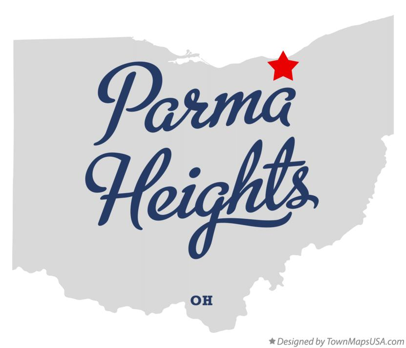 Map of Parma Heights Ohio OH