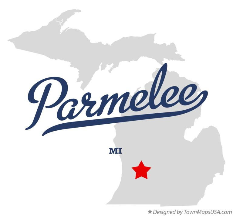 Map of Parmelee Michigan MI