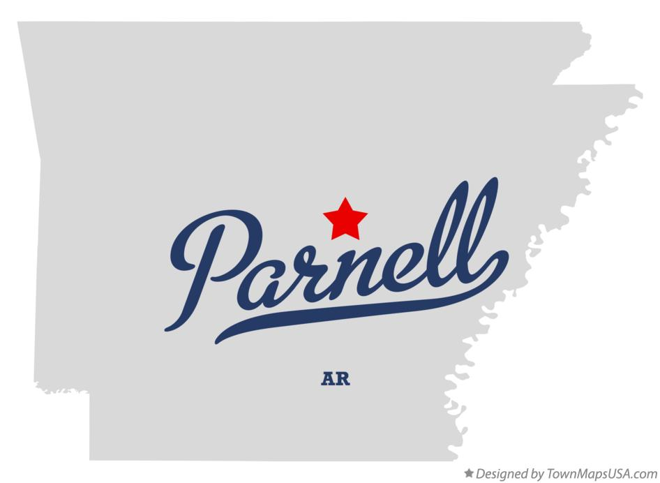 Map of Parnell Arkansas AR