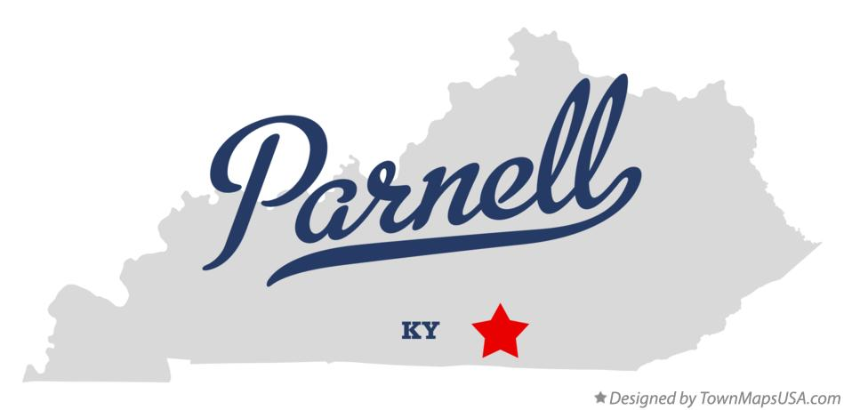 Map of Parnell Kentucky KY