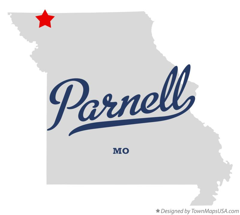 Map of Parnell Missouri MO