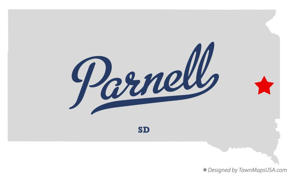 Map of Parnell South Dakota SD