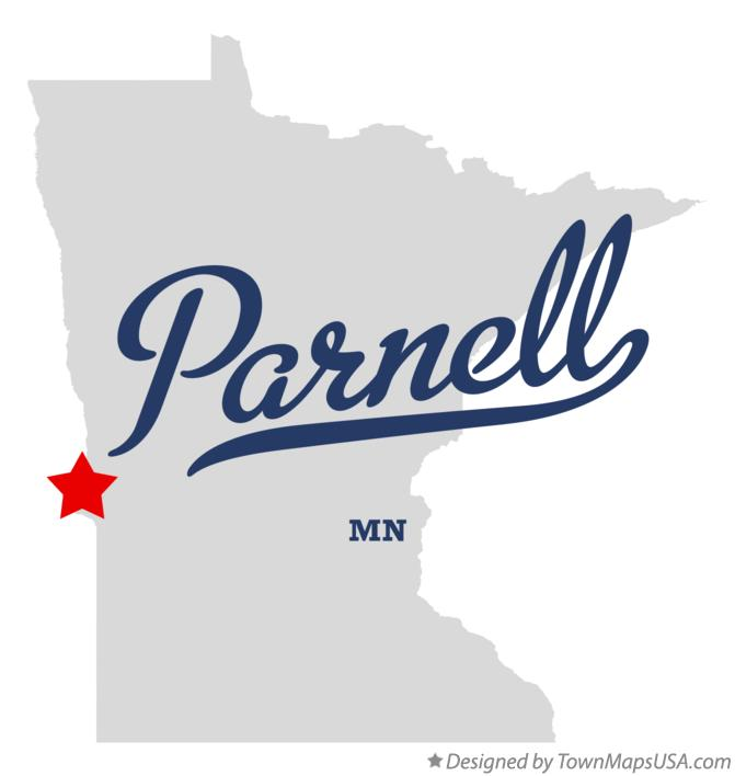 Map of Parnell Minnesota MN