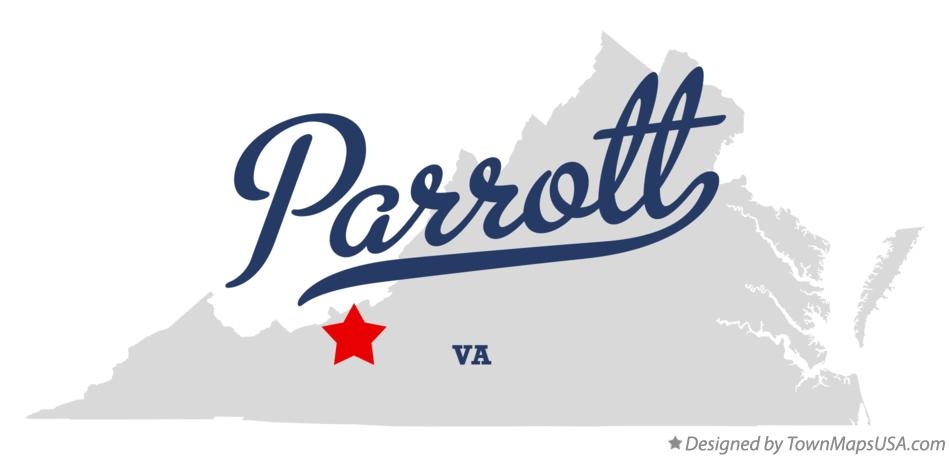 Map of Parrott Virginia VA