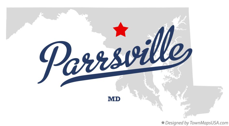 Map of Parrsville Maryland MD