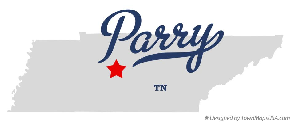 Map of Parry Tennessee TN