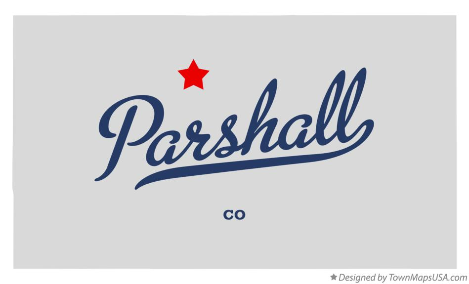 Map of Parshall Colorado CO