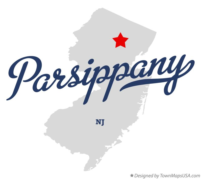 Map of Parsippany New Jersey NJ