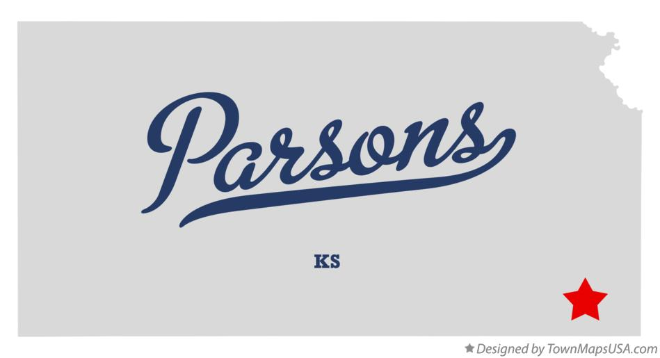 Map of Parsons Kansas KS