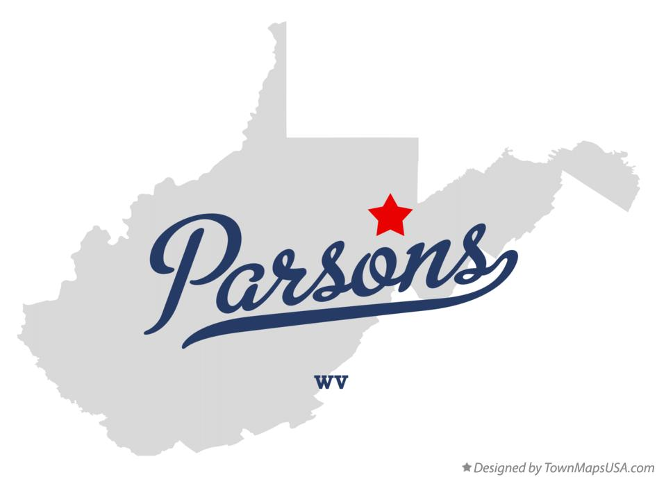 Map of Parsons West Virginia WV