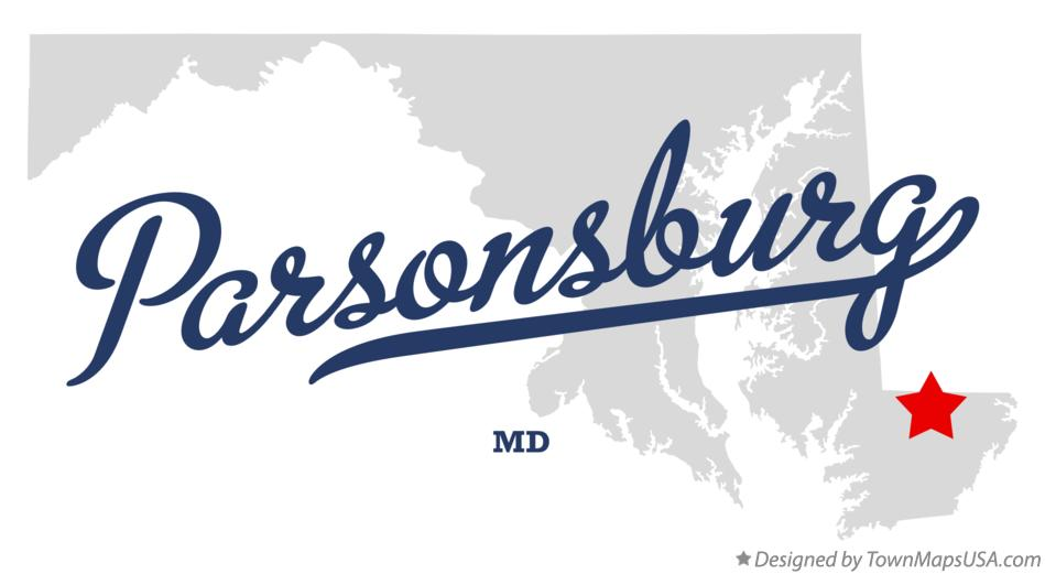 Map of Parsonsburg Maryland MD
