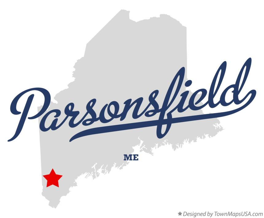Map of Parsonsfield Maine ME